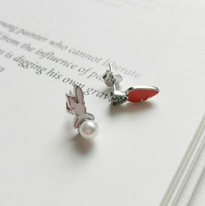 Sterling Silver Easter Bunny Carrot Earrings